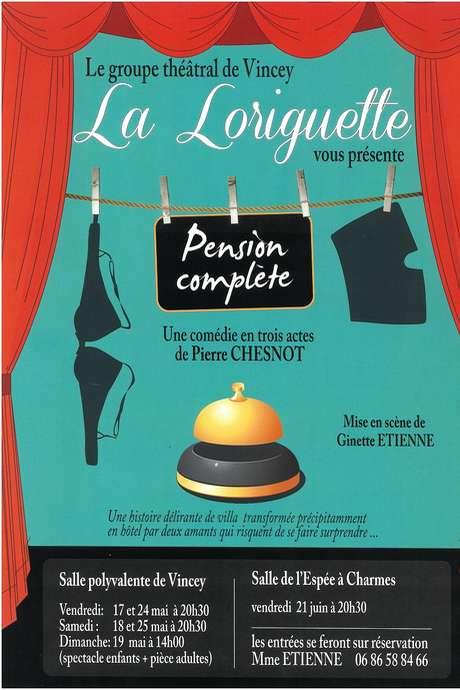 THEATRE : 'PENSION COMPLÈTE', COMÉDIE EN 3 ACTES