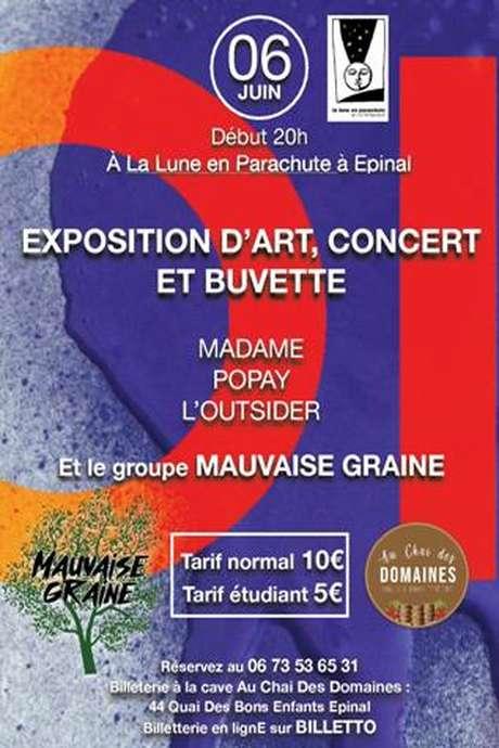 EXPOSITION D'ART - CONCERT ET BUVETTE