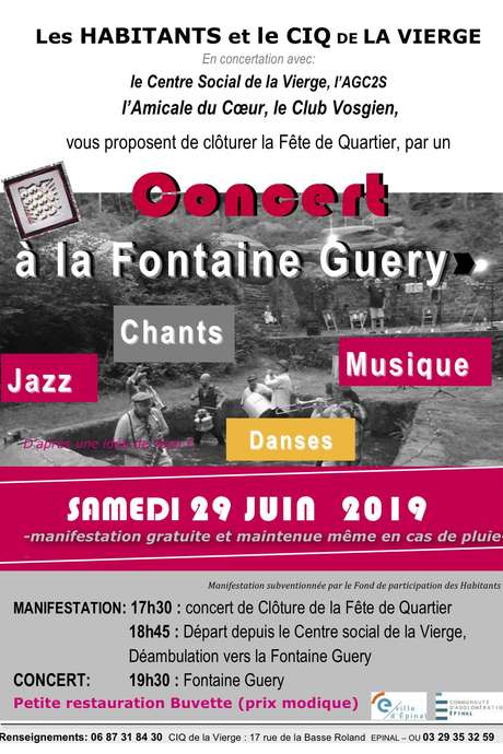 CONCERT À LA FONTAINE GUERY JAZZ, CHANTS-DANSES