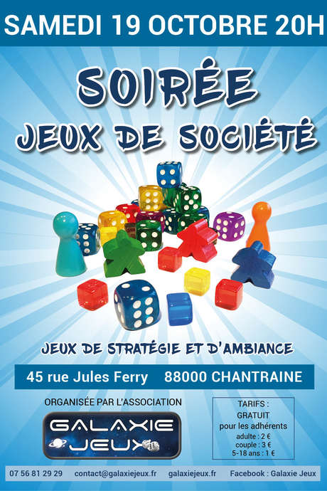 SOIRÉE JEUX DE SOCIÉTÉ