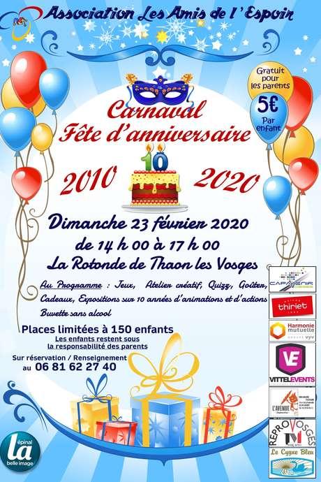 CARNAVAL - FÊTE D'ANNIVERSAIRE