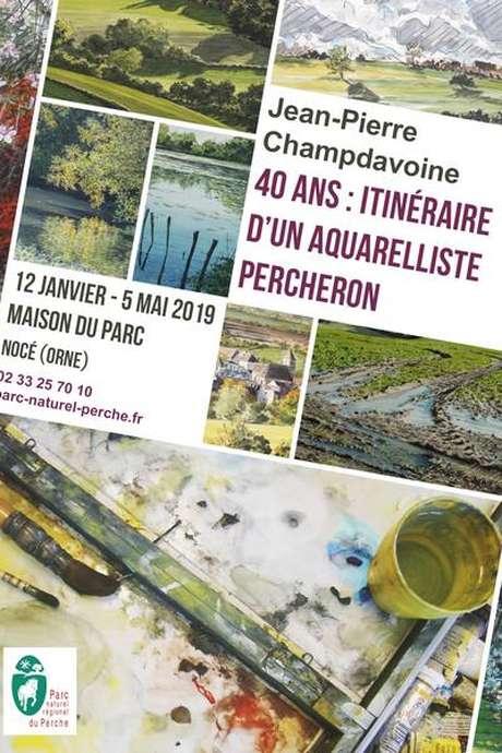Exposition : Jean-Pierre Champdavoine - 40 ans : itinéraire d'un aquarelliste percheron