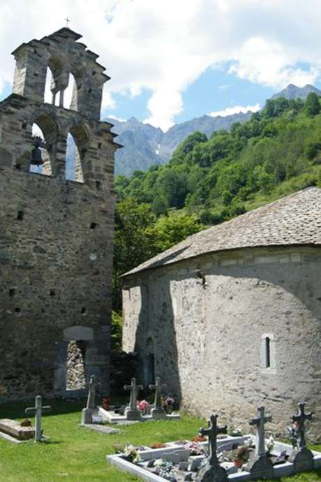 Visite-découverte d'Aragnouet : Chapelle des templiers et église d'Eget village