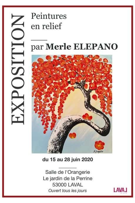 EXPOSITION : PEINTURES EN RELIEF PAR MERLE ELEPANO