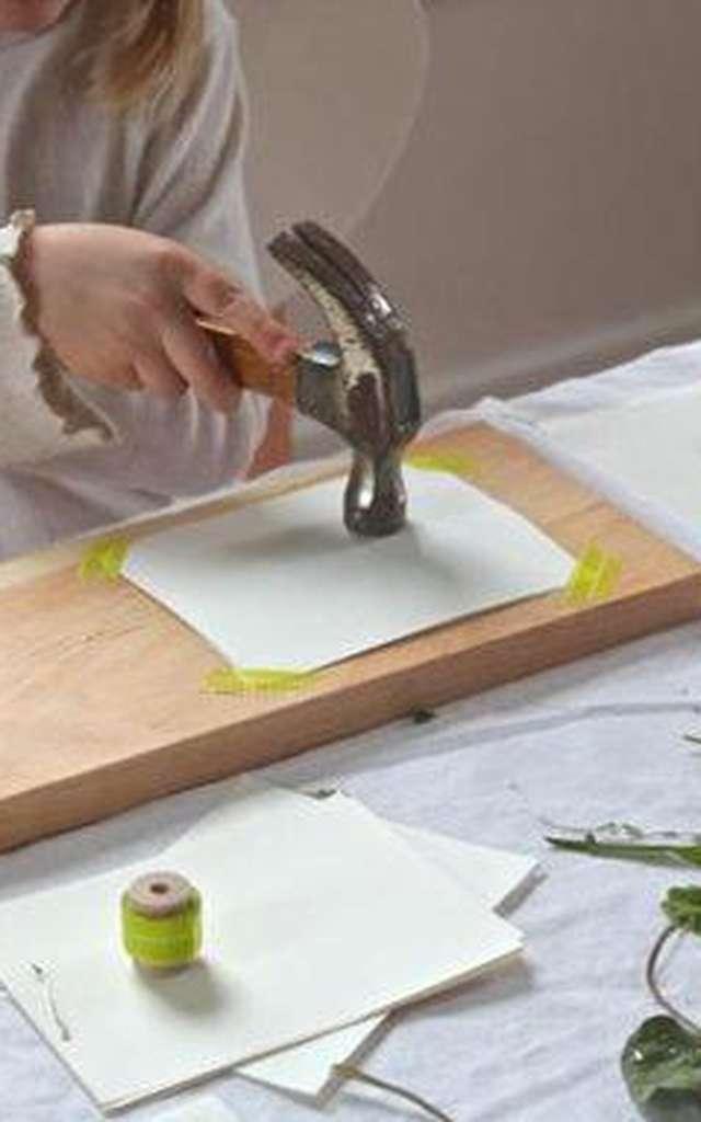 Atelier créatif : Empreintes de plantes