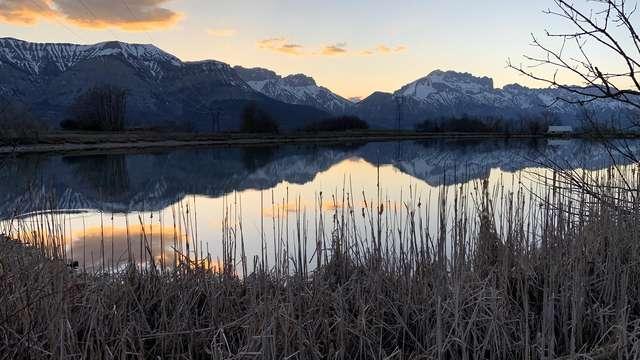 Plan d'eau et Lac de l'Aulagnier running
