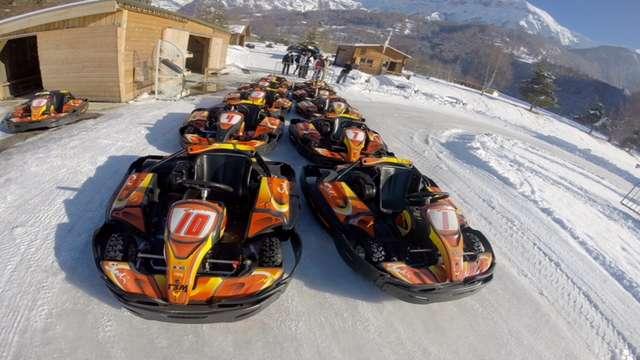 Karting sur glace Orcières