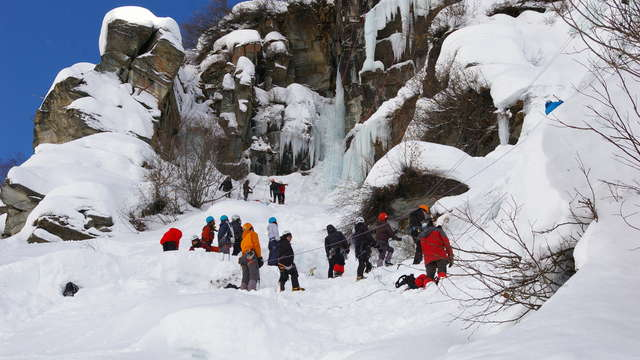 Grand Parcours Bonneval sur Arc-Bessans / Rencontre d'escalade sur glace