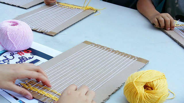 Atelier créatif autour de la laine pour enfants