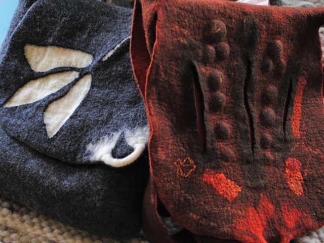 Stage de feutre de laine : laine fine accessoires en 3D