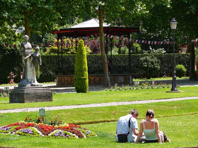 Jardin de l'Évêché à Lisieux