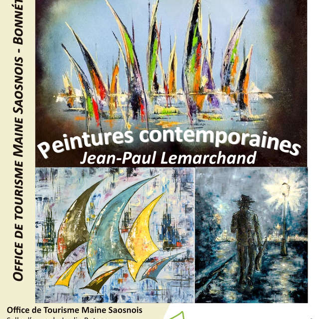 EXPOSITION DE PEINTURES CONTEMPORAINES, JEAN-PAUL LEMARCHAND