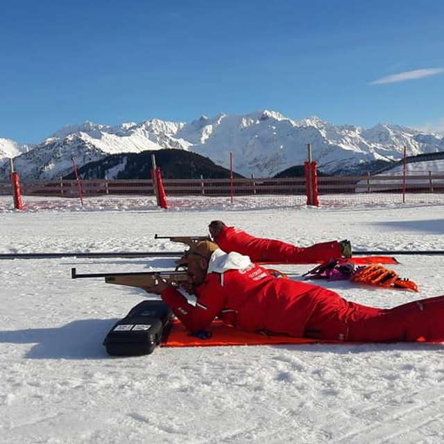Biathlon avec l'ESF du Collet