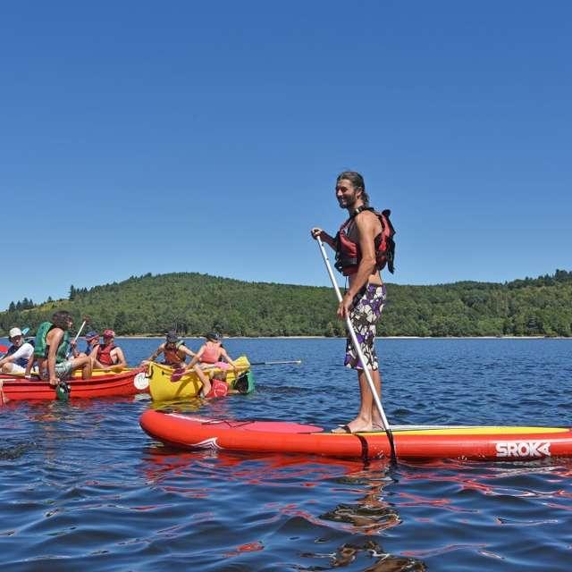 Animation aventure canoë, paddle