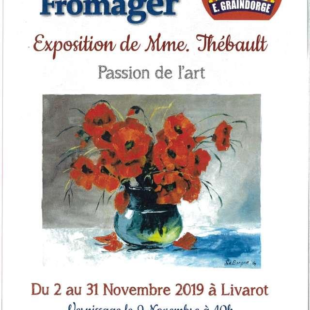 Exposition d'Aquarelles de madame Thébault au Village Fromager Graindorge à Livarot
