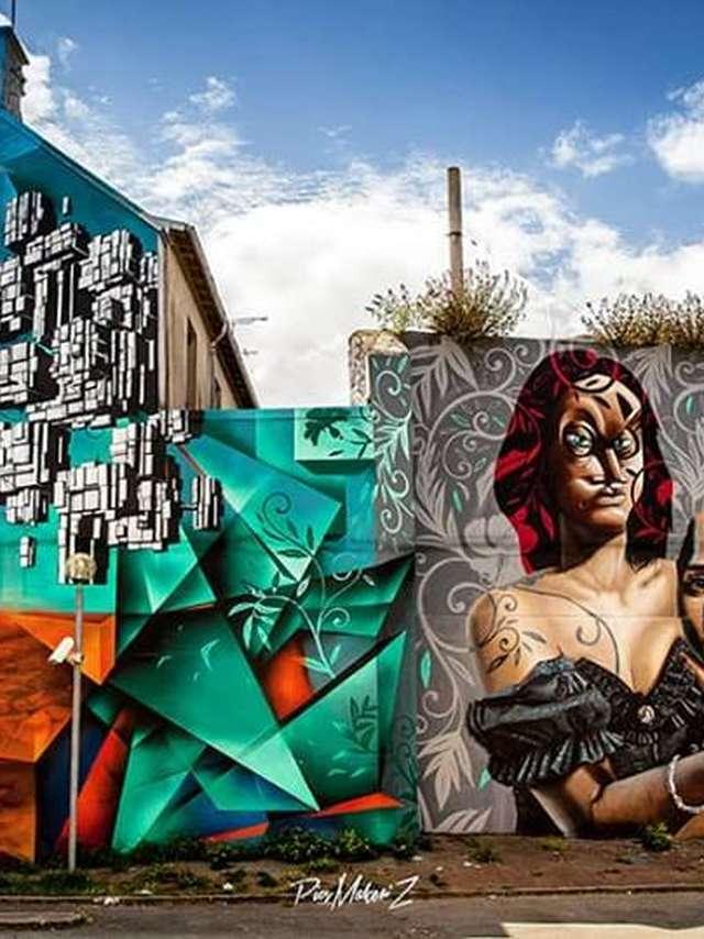 Parcours Street Art de Saint-Brieuc - balades guidées de 'Murs en Murs'