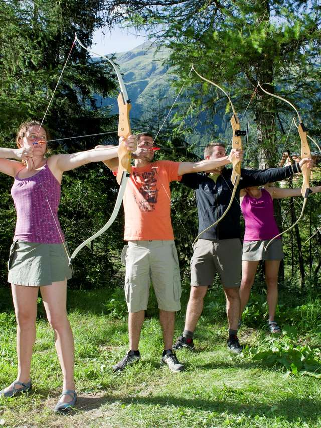 Découverte du tir à l'arc en forêt