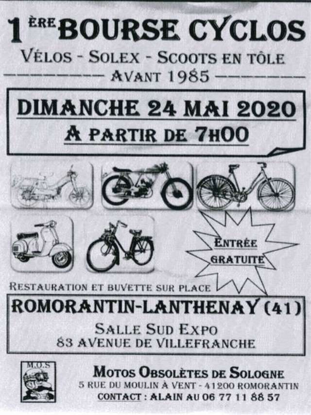 1ère Bourse Cyclos avant 1985