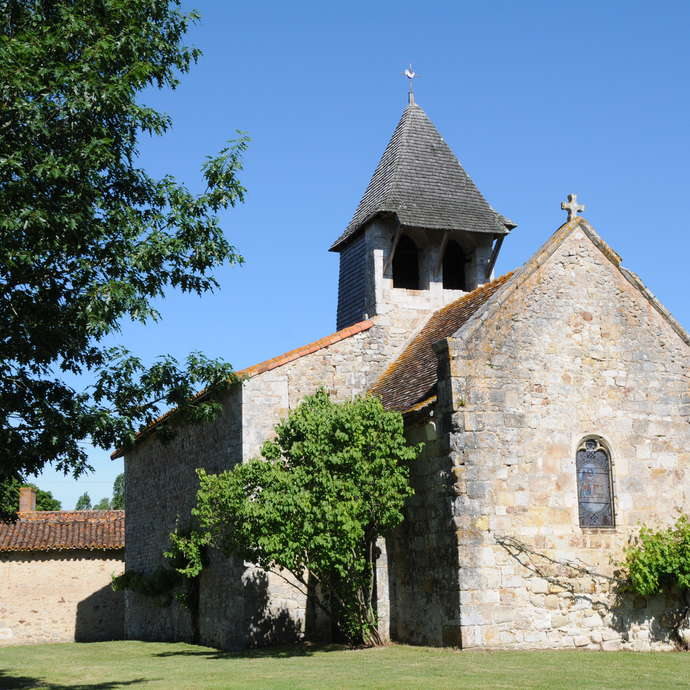 The Church of Saint-Martin and the Hosannière Cross, Moussac-sur-Gartempe