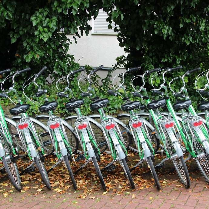 Hiring bikes