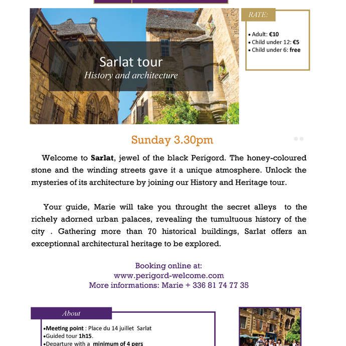 Sarlat tour, history and architecture.