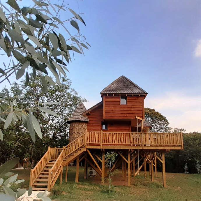 Cabanes & SPA dans les arbres - Domaine de campagnac - Carsac