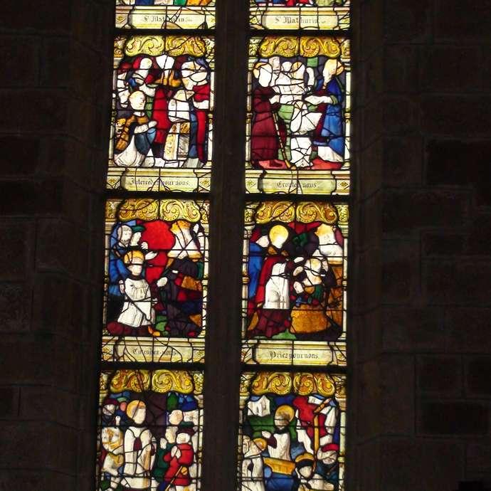 Eglise St Mathurin - Vitrail St Mathurin