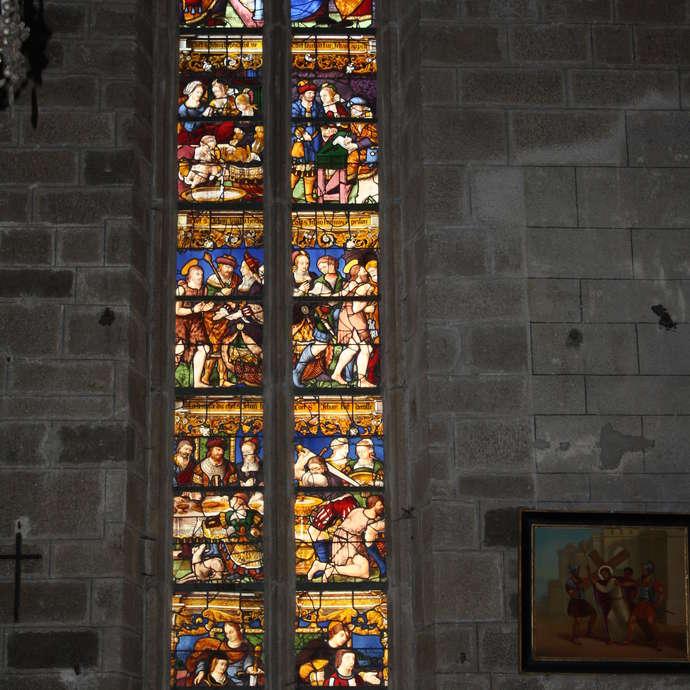 Eglise St Mathurin - Vitrail St Jean Baptiste