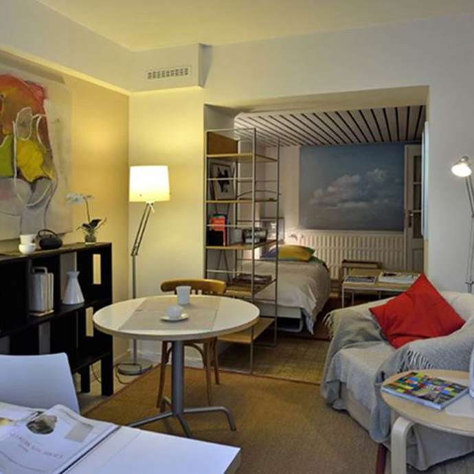 Franz Merjay studio jardin, studio meublé