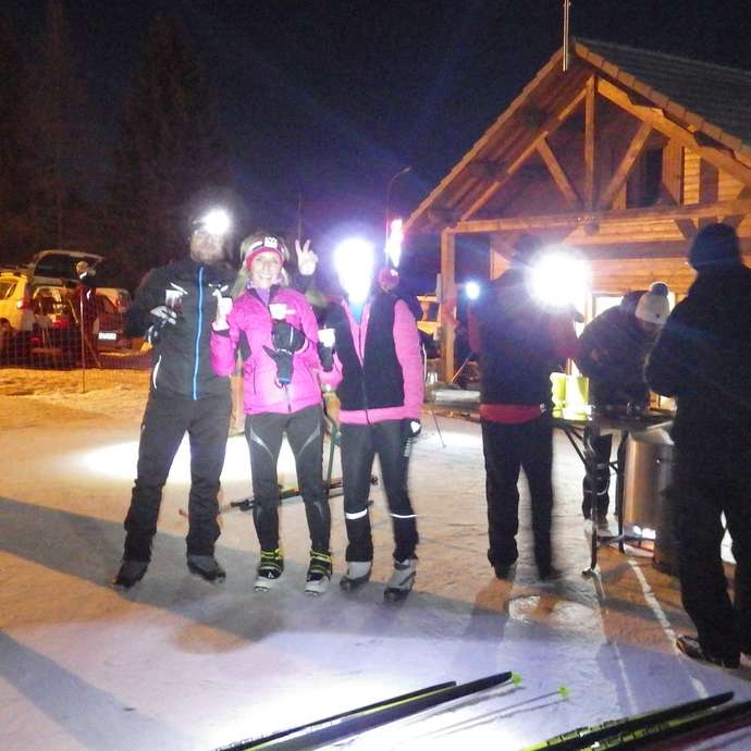 Ski de fond nocturne
