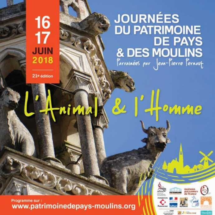 Journées du patrimoine de pays et des moulins:  L'Animal et l'Homme