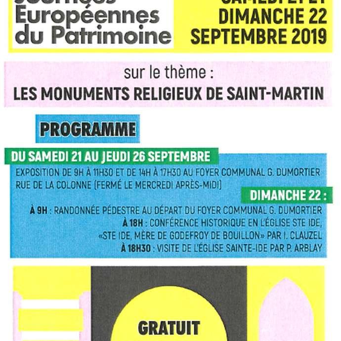 JOURNEES EUROPEENNES DU PATRIMOINE : AMIS DU PATRIMOINE